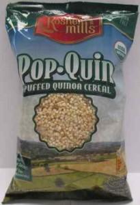 Kosher Mills Pop-Quin Puffed Quinoa Gluten-Free Cereal