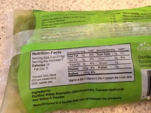 Skinny Noodles Fettuccine Nutrition Information